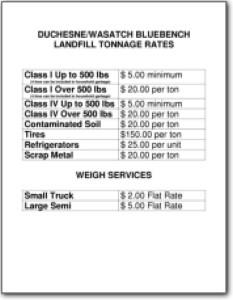 Tonnage Rates